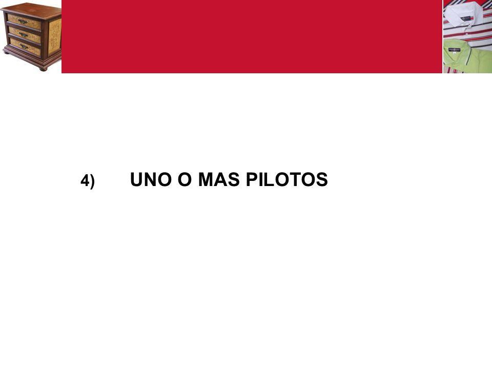4) UNO O MAS PILOTOS