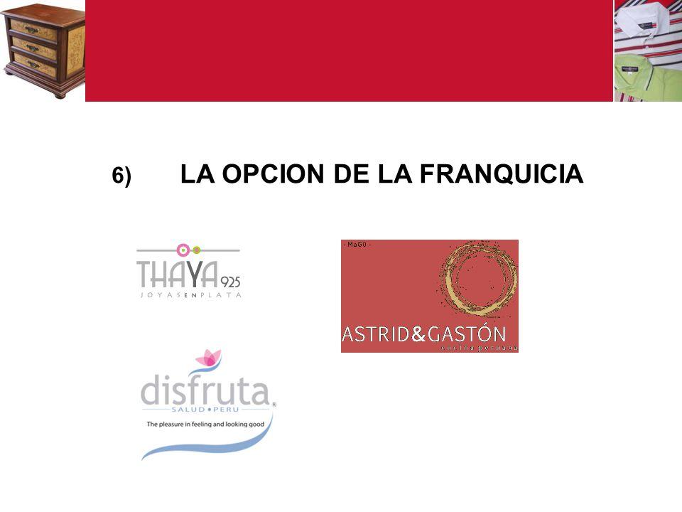 6) LA OPCION DE LA FRANQUICIA