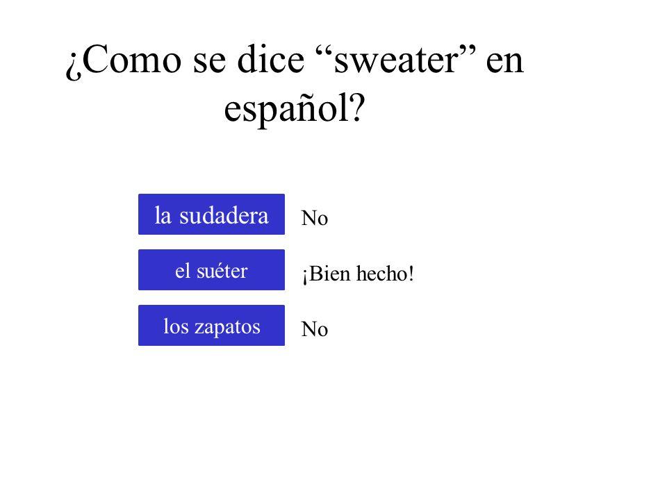 ¿Como se dice t-shirt en español? la camiseta la blusa la ropa interior No ¡Bien hecho! No