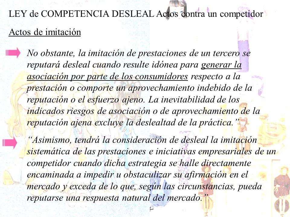Dentro de la ley de competencia deslal, atendiendo a la cláusula especial de actos contra el competidor, se podría entender que la demanda de Matel a MGA es por posible asociación de los productos ofrecidos por las dos compañías.