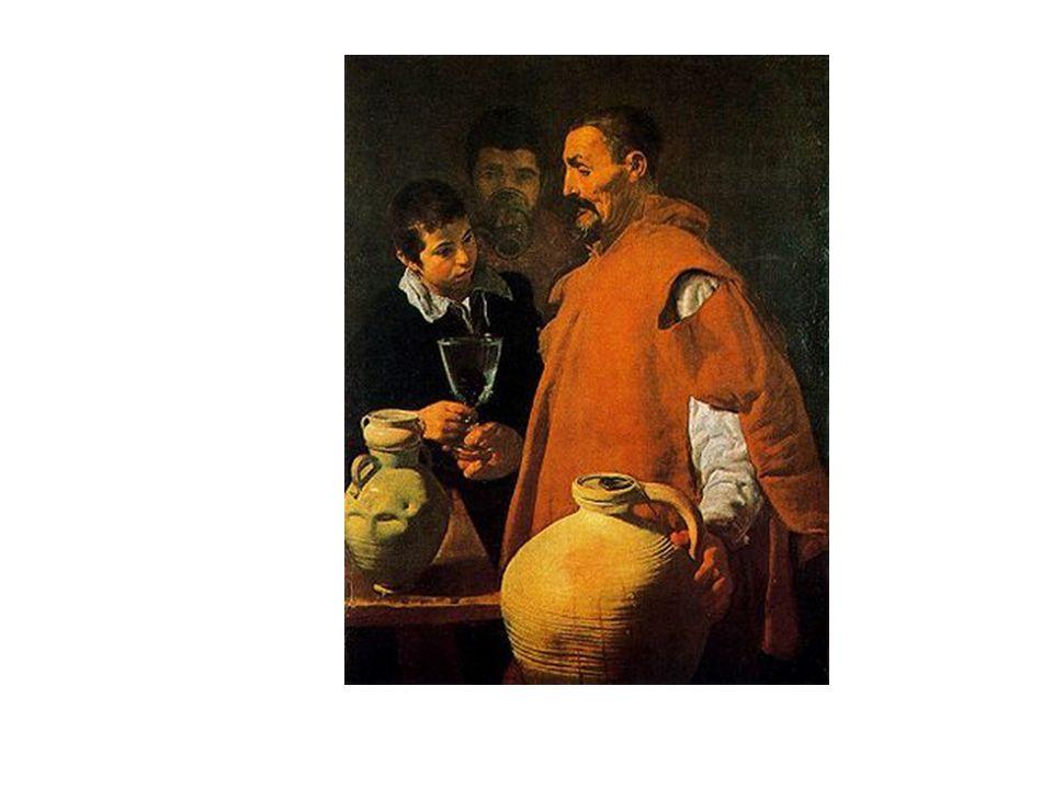 El Aguador de Sevilla, de Velázquez. Otra escena de la vida real. Representa las edades del hombre: niñez, madurez y vejez.