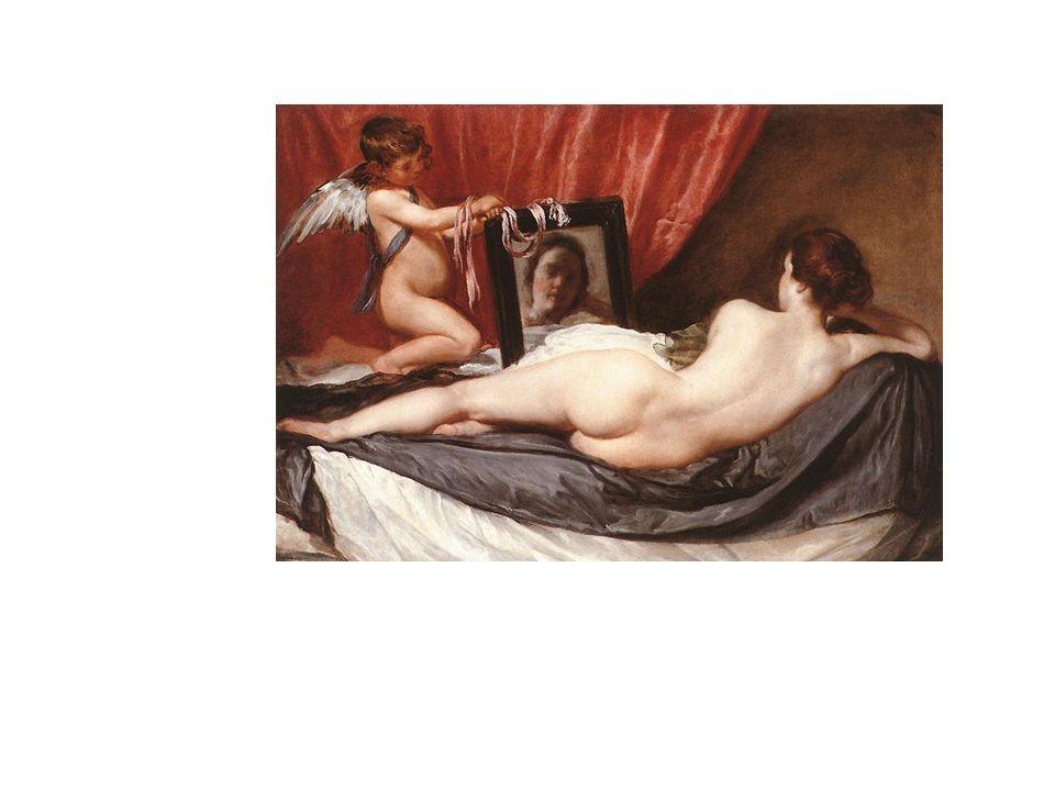 La Venus del Espejo, de Velázquez. Aunque la diosa está de espaldas, a través del espejo mira al espectador, que se ve sorprendido.