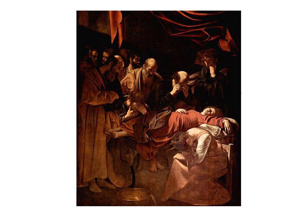La muerte de la Virgen, de Caravaggio. Causó un gran escándalo porque utilizó como modelo para pintar a la virgen el cadáver de una mujer ahogada en e