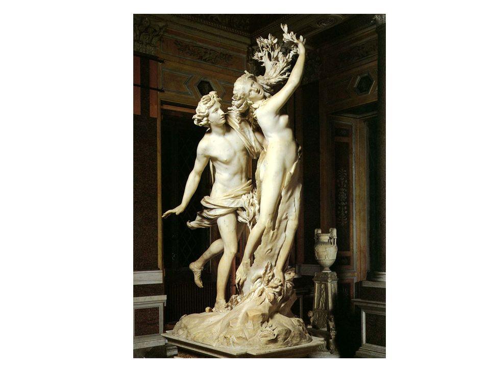 Apolo y Dafne, de Bernini. Representa el momento en que Dafne, perseguida por Apolo, se está convirtiendo en un árbol. El movimiento presente en la ob
