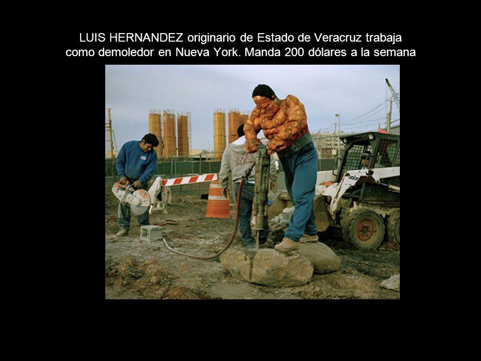 LUIS HERNANDEZ originario de Estado de Veracruz trabaja como demoledor en Nueva York.