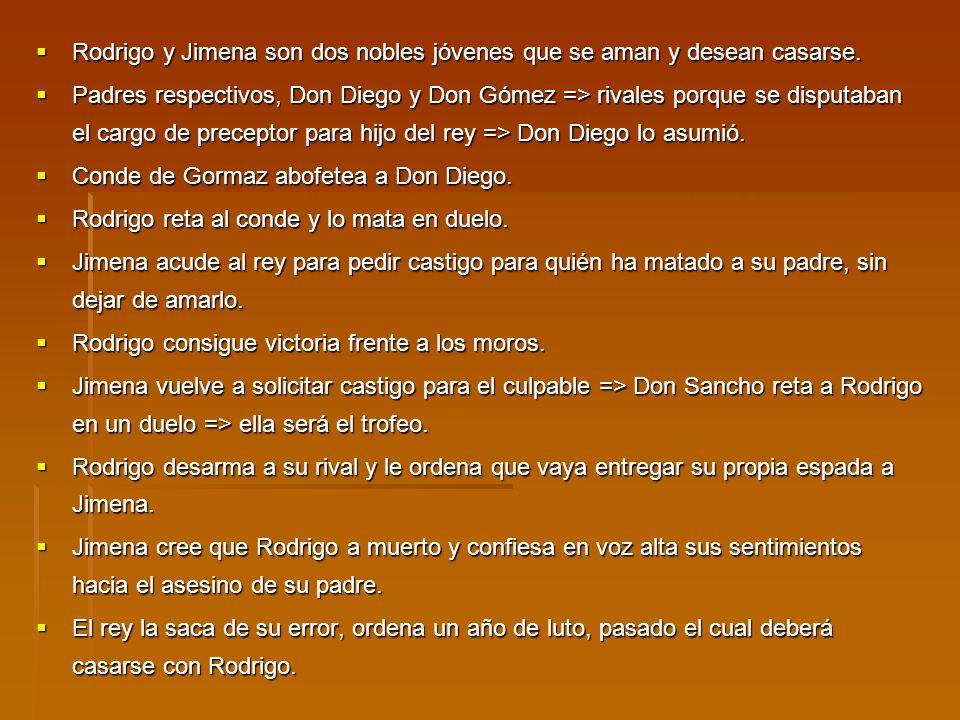 Rodrigo y Jimena son dos nobles jóvenes que se aman y desean casarse. Rodrigo y Jimena son dos nobles jóvenes que se aman y desean casarse. Padres res