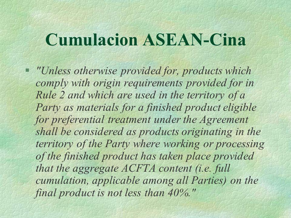 Cumulacion ASEAN-Cina