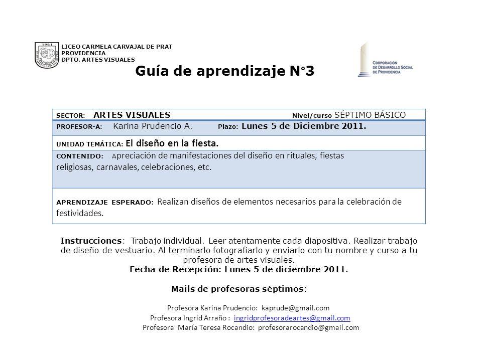 SECTOR: ARTES VISUALES Nivel/curso SÉPTIMO BÁSICO PROFESOR-A: Karina Prudencio A. Plazo: Lunes 5 de Diciembre 2011. UNIDAD TEMÁTICA: El diseño en la f
