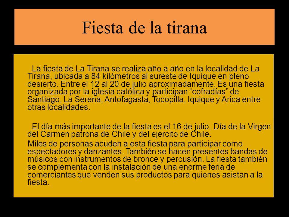 La fiesta de la tirana tiene antecedentes en la ritualidad precolombina y la visión de la virgen como la madre tierra conocida como Pacha Mama.