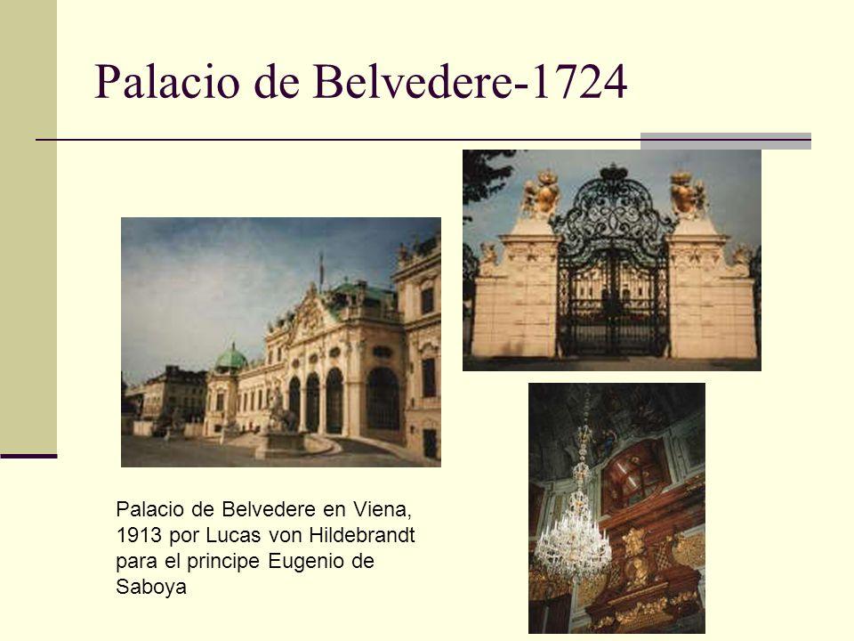 Palacio de Belvedere-1724 Palacio de Belvedere en Viena, 1913 por Lucas von Hildebrandt para el principe Eugenio de Saboya