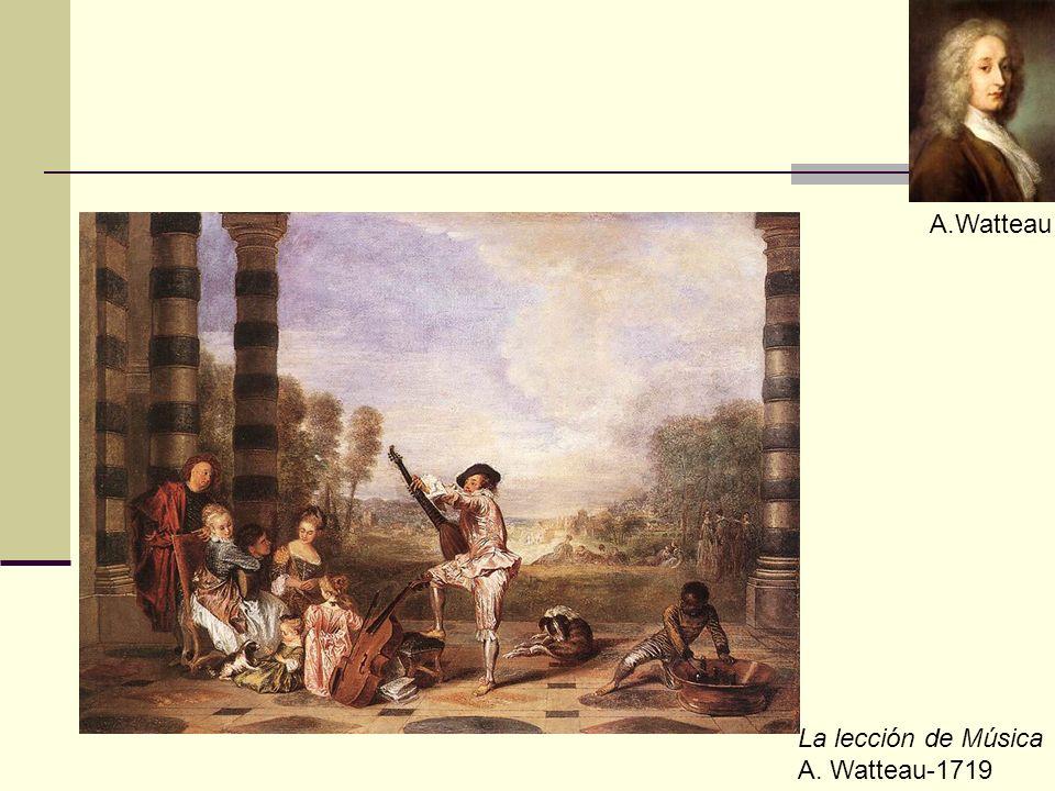 La lección de Música A. Watteau-1719 A.Watteau