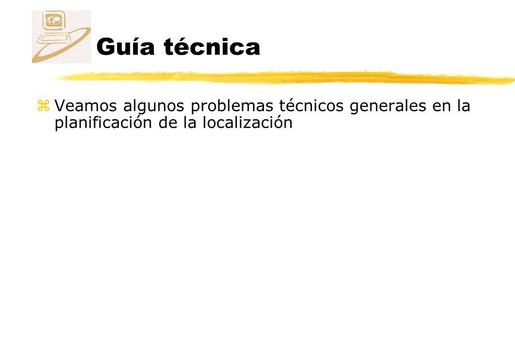 Guía técnica zVeamos algunos problemas técnicos generales en la planificación de la localización