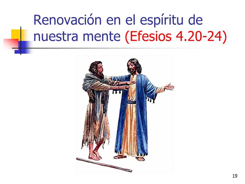 Renovación en el espíritu de nuestra mente (Efesios 4.20-24) 19