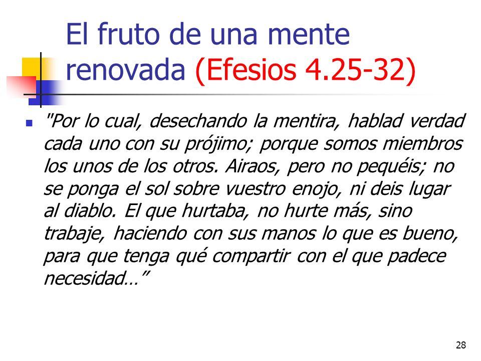 El fruto de una mente renovada (Efesios 4.25-32)
