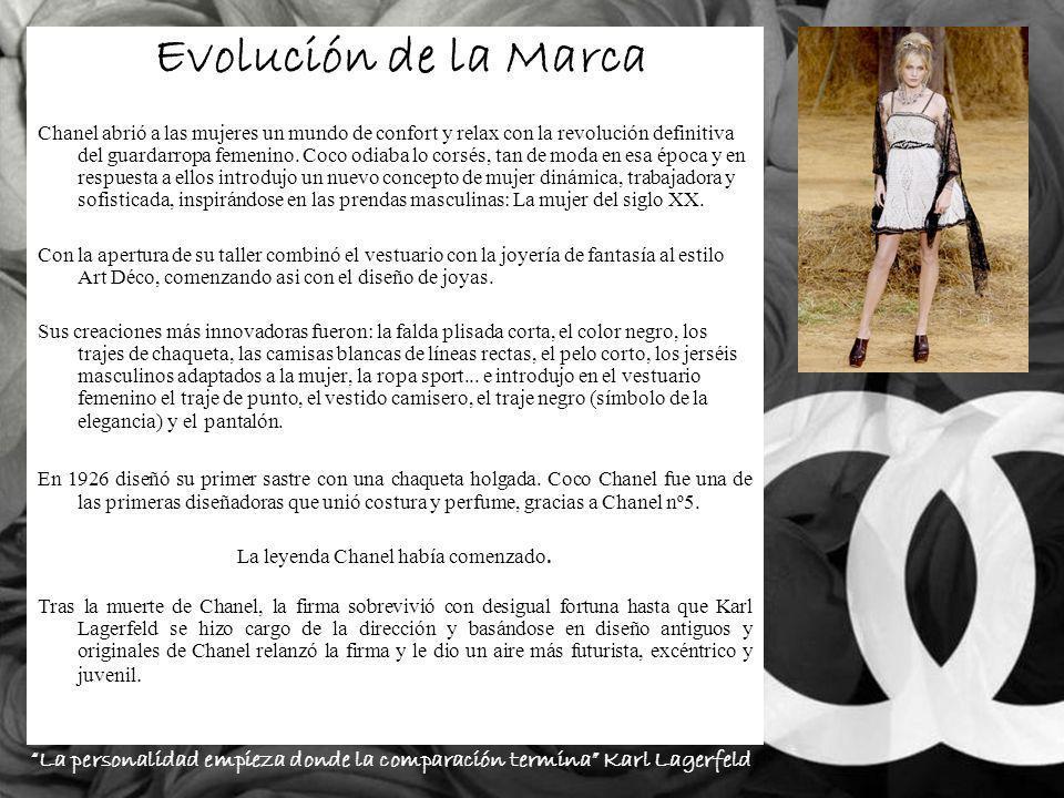 Evolución de la Marca Chanel abrió a las mujeres un mundo de confort y relax con la revolución definitiva del guardarropa femenino.