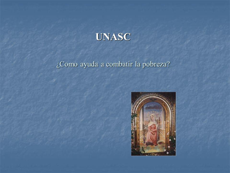 ¿Como ayuda a combatir la pobreza? UNASC