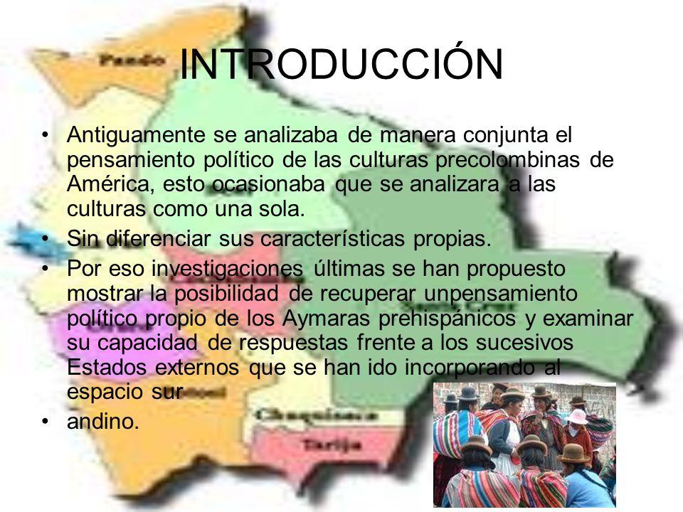 INTRODUCCIÓN Antiguamente se analizaba de manera conjunta el pensamiento político de las culturas precolombinas de América, esto ocasionaba que se analizara a las culturas como una sola.