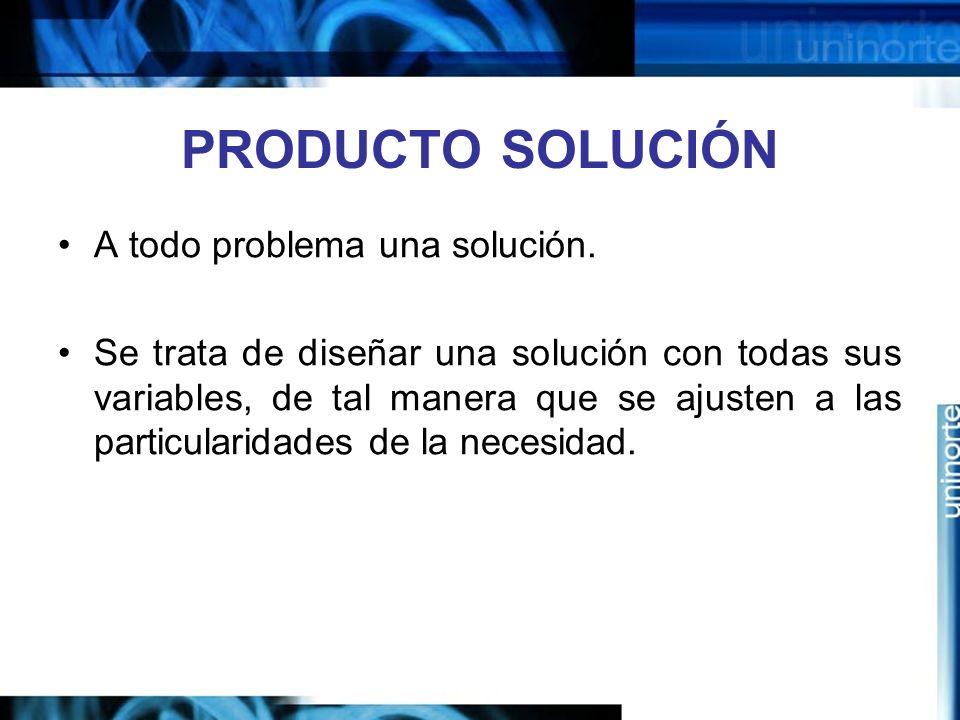 PRODUCTO SOLUCIÓN A todo problema una solución.