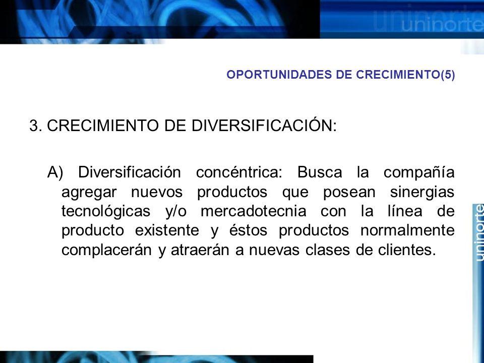 OPORTUNIDADES DE CRECIMIENTO(5) 3.