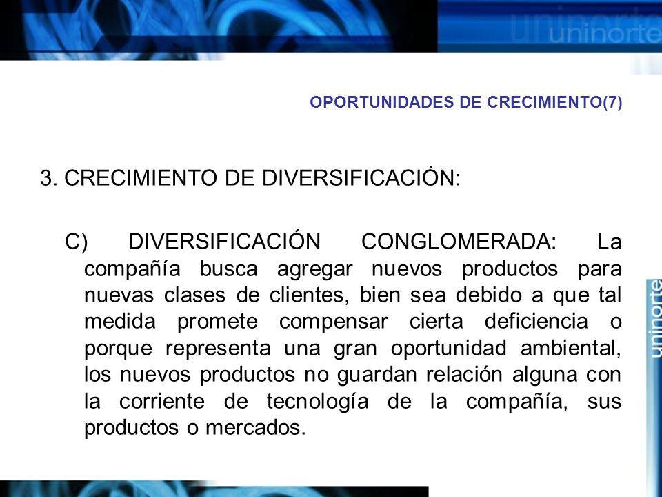 OPORTUNIDADES DE CRECIMIENTO(7) 3.