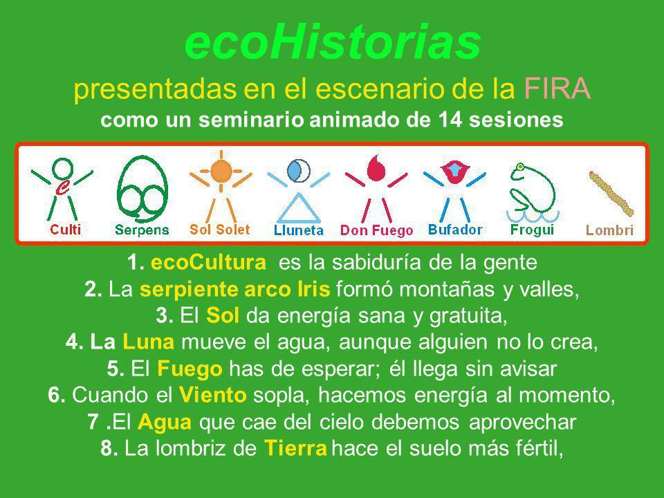 ecoHistorias presentadas en el escenario de la FIRA como un seminario animado de 14 sesiones 1.