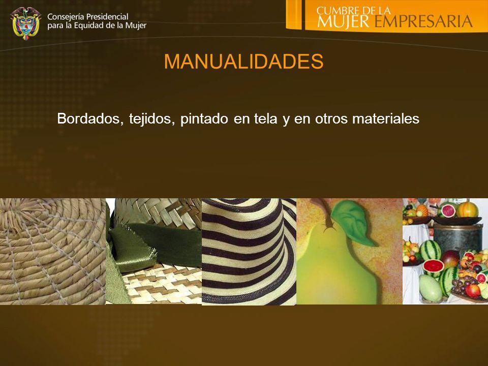Bordados, tejidos, pintado en tela y en otros materiales MANUALIDADES