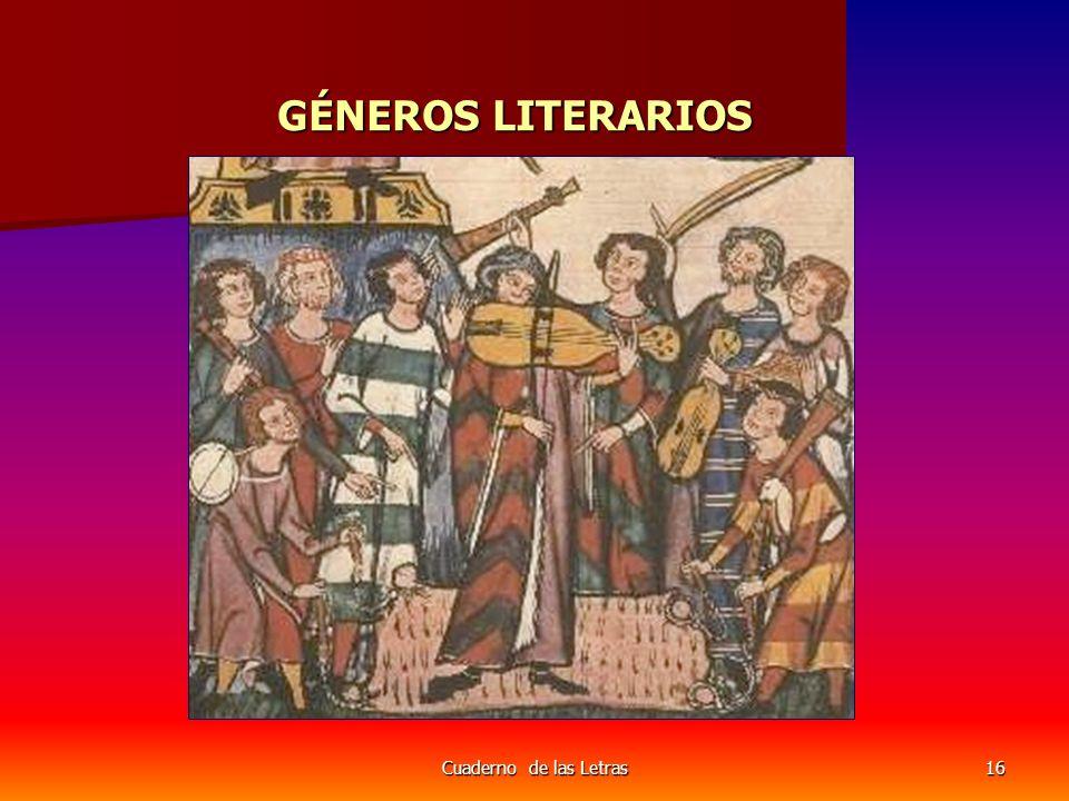 Cuaderno de las Letras16 GÉNEROS LITERARIOS