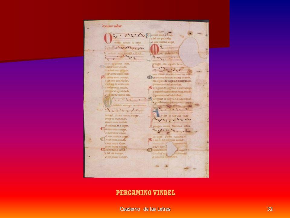 Cuaderno de las Letras32 PERGAMINO VINDEL