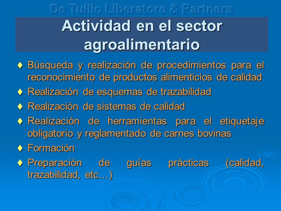 Actividad en el sector agroalimentario Búsqueda y realización de procedimientos para el reconocimiento de productos alimenticios de calidad Búsqueda y