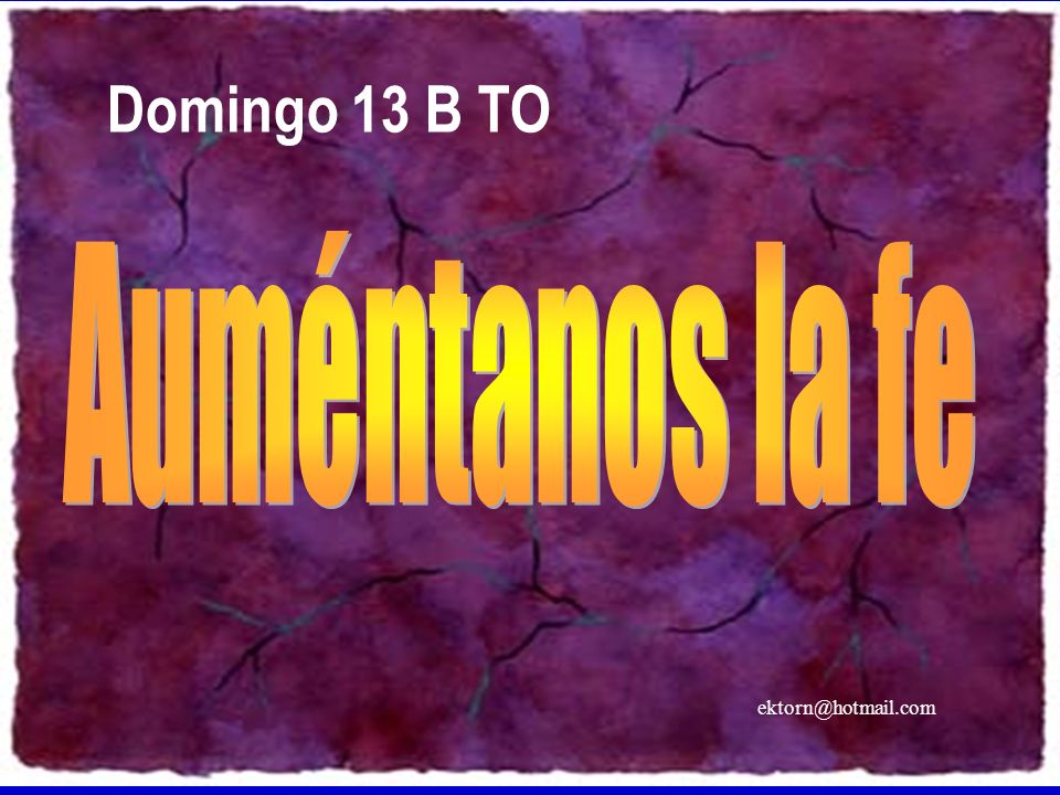 ektorn@hotmail.com Domingo 13 B TO