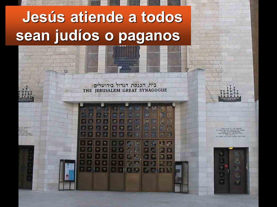 Jesús atiende a todos sean judíos o paganos Jesús atiende a todos sean judíos o paganos