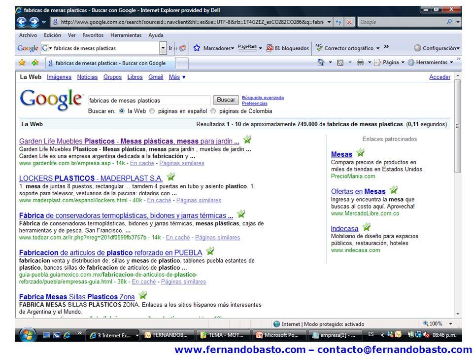 www.fernandobasto.com – contacto@fernandobasto.com