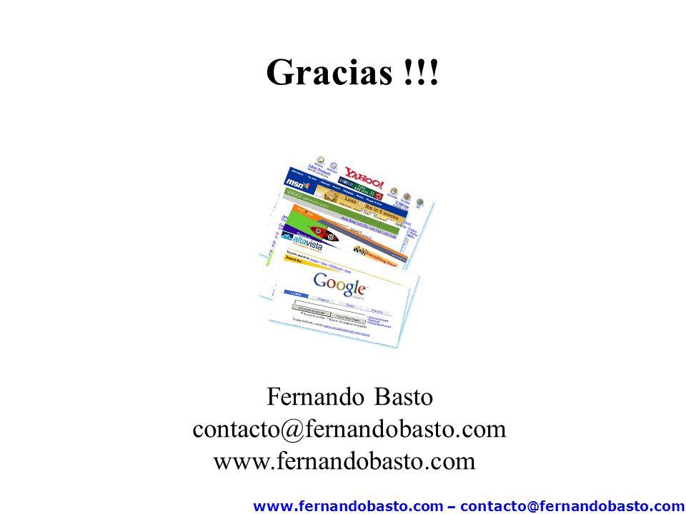 www.fernandobasto.com – contacto@fernandobasto.com Gracias !!.