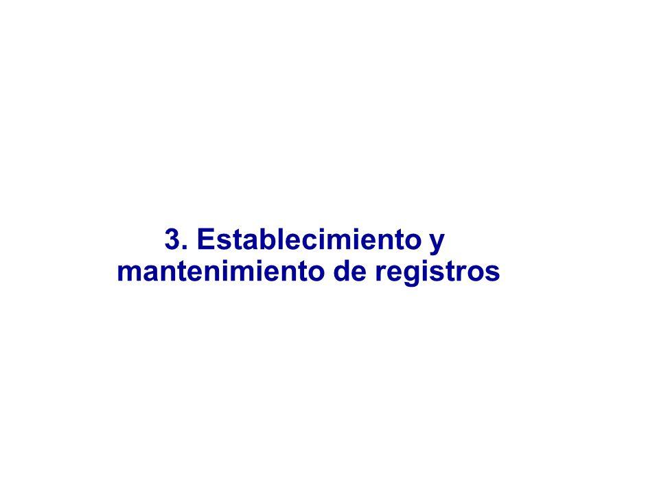 3. Establecimiento y mantenimiento de registros