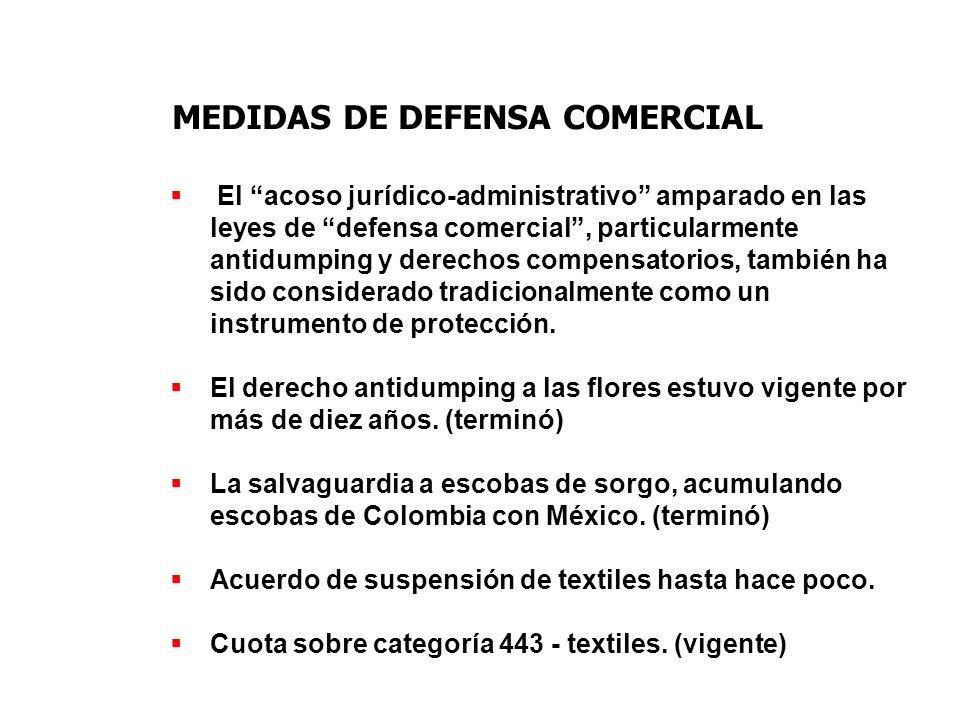 MEDIDAS DE DEFENSA COMERCIAL El acoso jurídico-administrativo amparado en las leyes de defensa comercial, particularmente antidumping y derechos compe