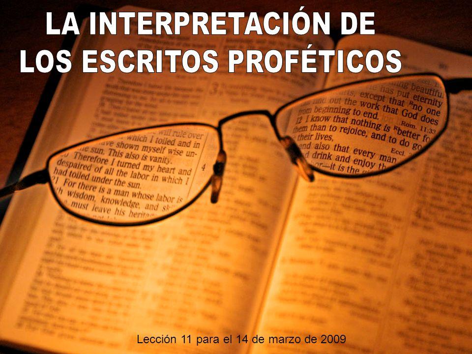 Lección 11 para el 14 de marzo de 2009