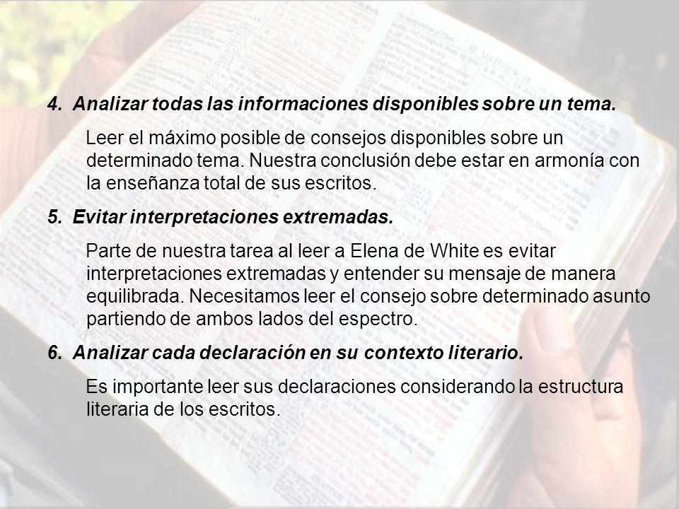 4.Analizar todas las informaciones disponibles sobre un tema.