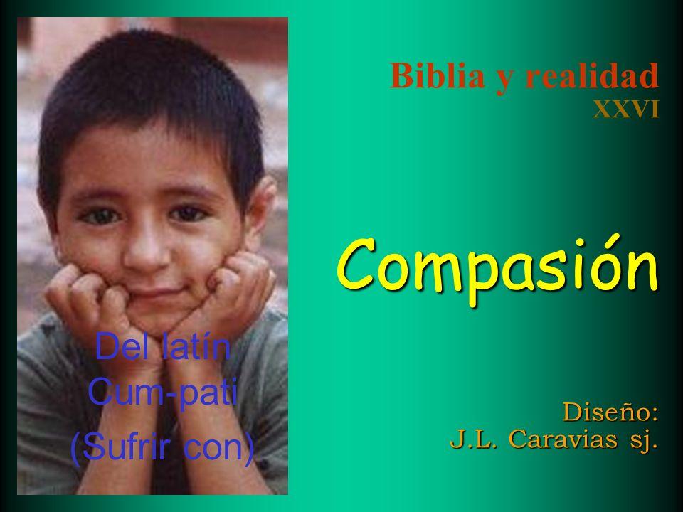 Compasión Diseño: J.L.Caravias sj. Biblia y realidad XXVI Compasión Diseño: J.L.