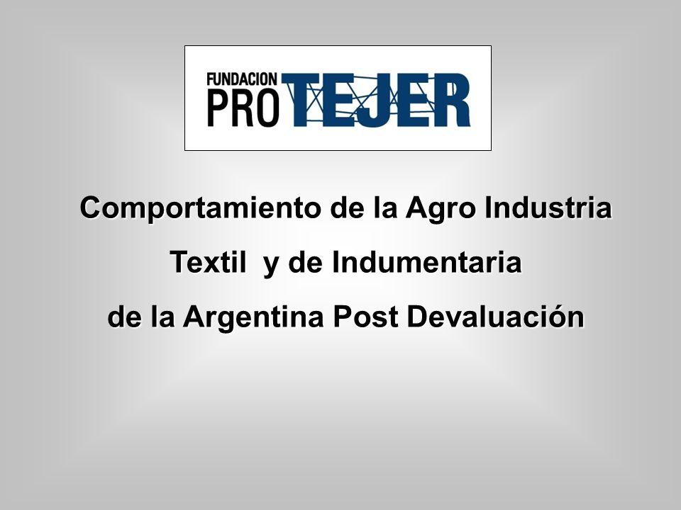 Comportamiento de la Agro Industria Textil y de Indumentaria de la Argentina Post Devaluación