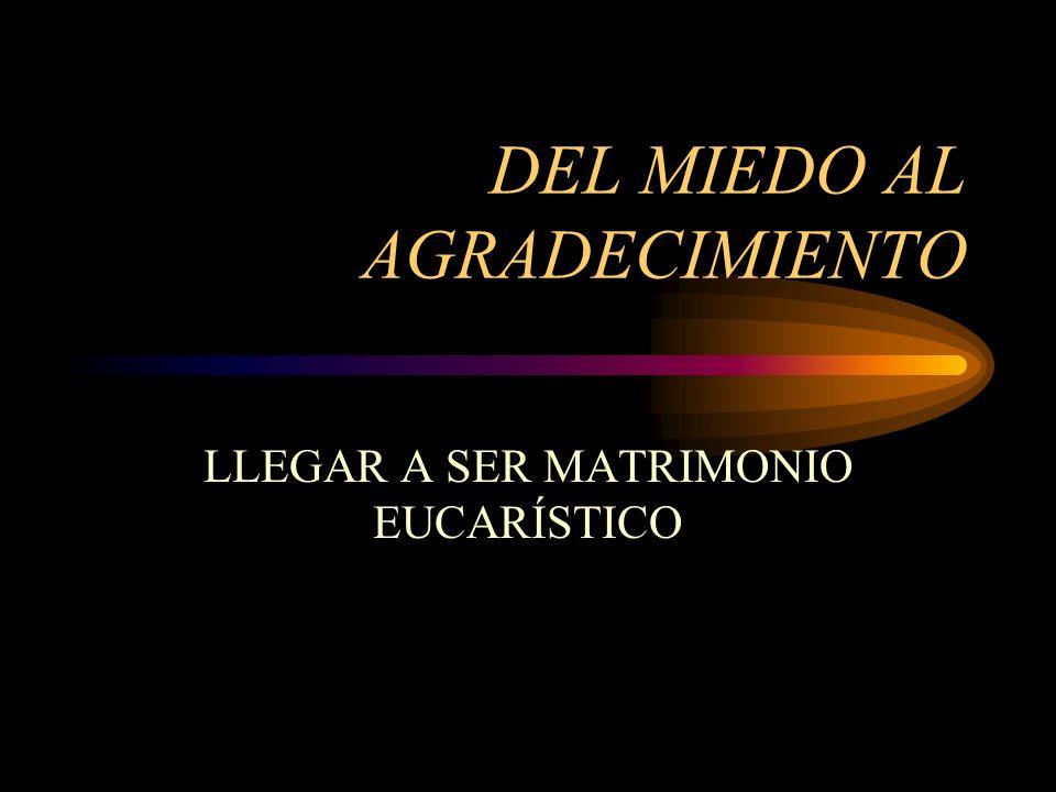 DEL MIEDO AL AGRADECIMIENTO LLEGAR A SER MATRIMONIO EUCARÍSTICO