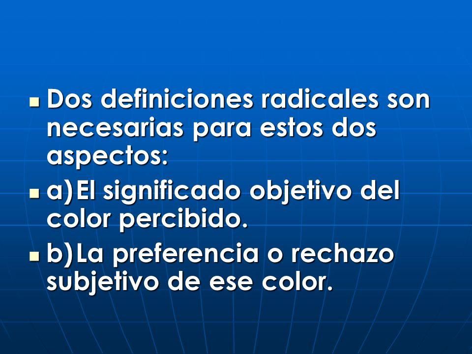 LAS CLAVES DE LOS OCHO COLORES 1.AZUL (obscuro) 2.