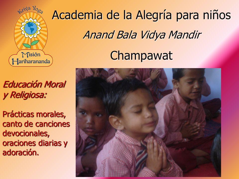 Educación Moral y Religiosa: Prácticas morales, canto de canciones devocionales, oraciones diarias y adoración. Academia de la Alegría para niños Anan