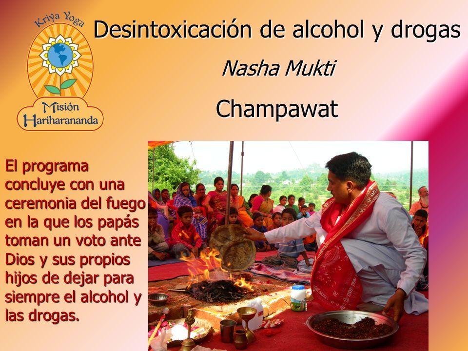 El programa concluye con una ceremonia del fuego en la que los papás toman un voto ante Dios y sus propios hijos de dejar para siempre el alcohol y las drogas.