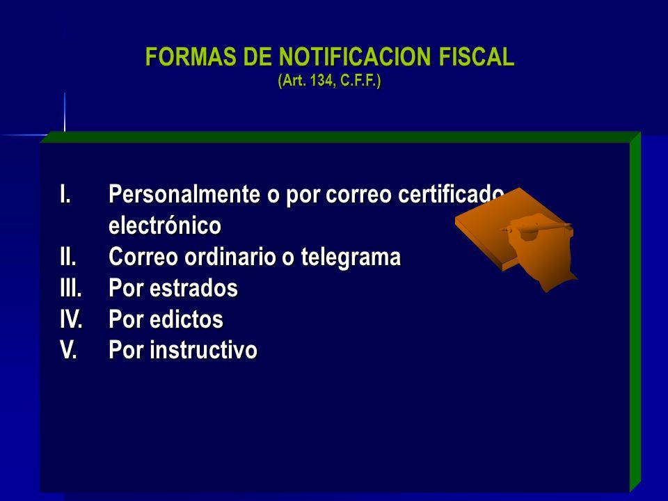 38 CONCEPTO: Acto de publicidad mediante el cual se da eficacia a los actos administrativos emitidos por la autoridad fiscal.