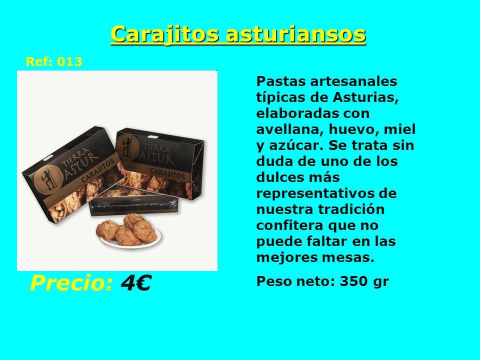 Carajitos asturiansos Ref: 013 Pastas artesanales típicas de Asturias, elaboradas con avellana, huevo, miel y azúcar. Se trata sin duda de uno de los
