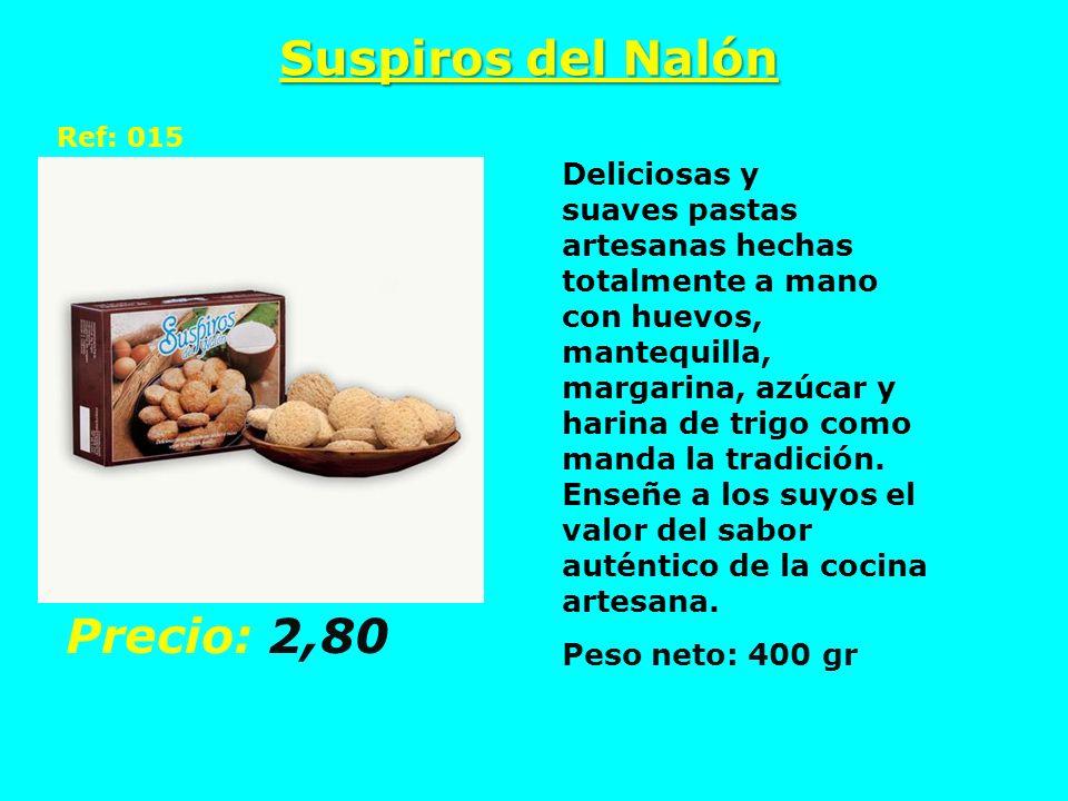 Suspiros del Nalón Ref: 015 Deliciosas y suaves pastas artesanas hechas totalmente a mano con huevos, mantequilla, margarina, azúcar y harina de trigo
