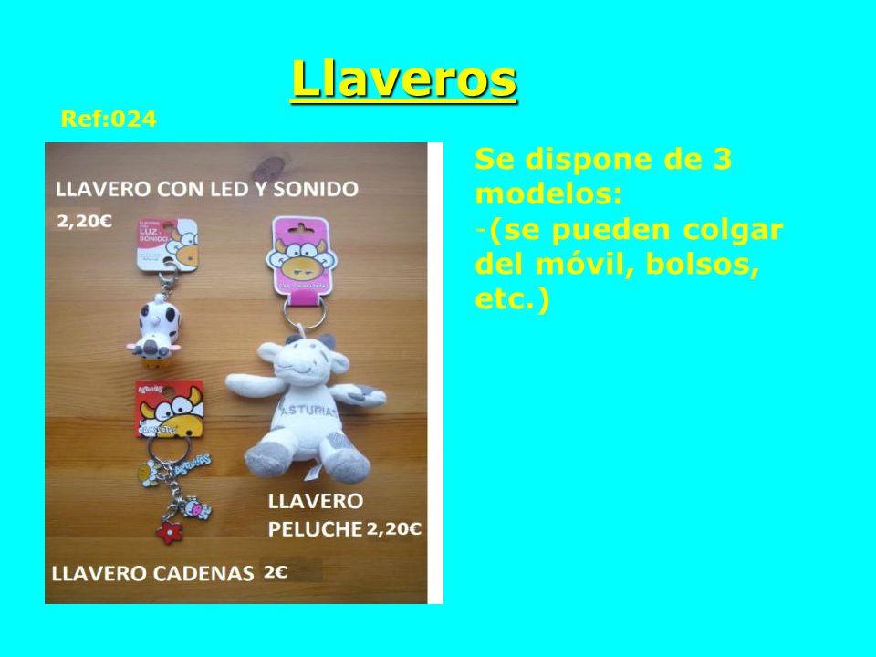 Llaveros Ref:024 Se dispone de 3 modelos: -(se pueden colgar del móvil, bolsos, etc.)