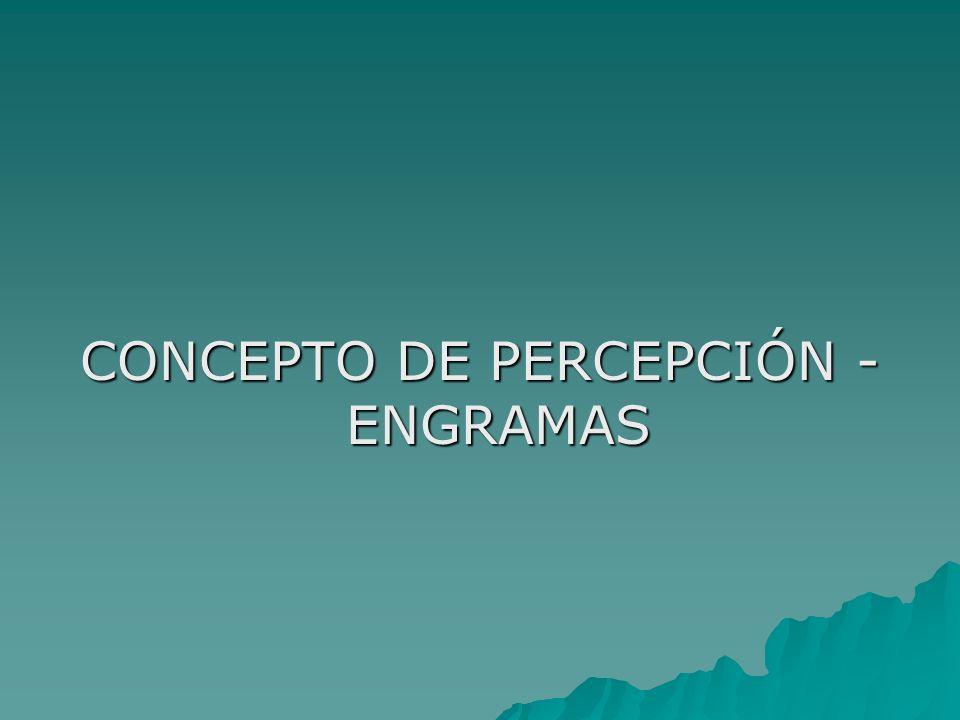 CONCEPTO DE PERCEPCIÓN - ENGRAMAS