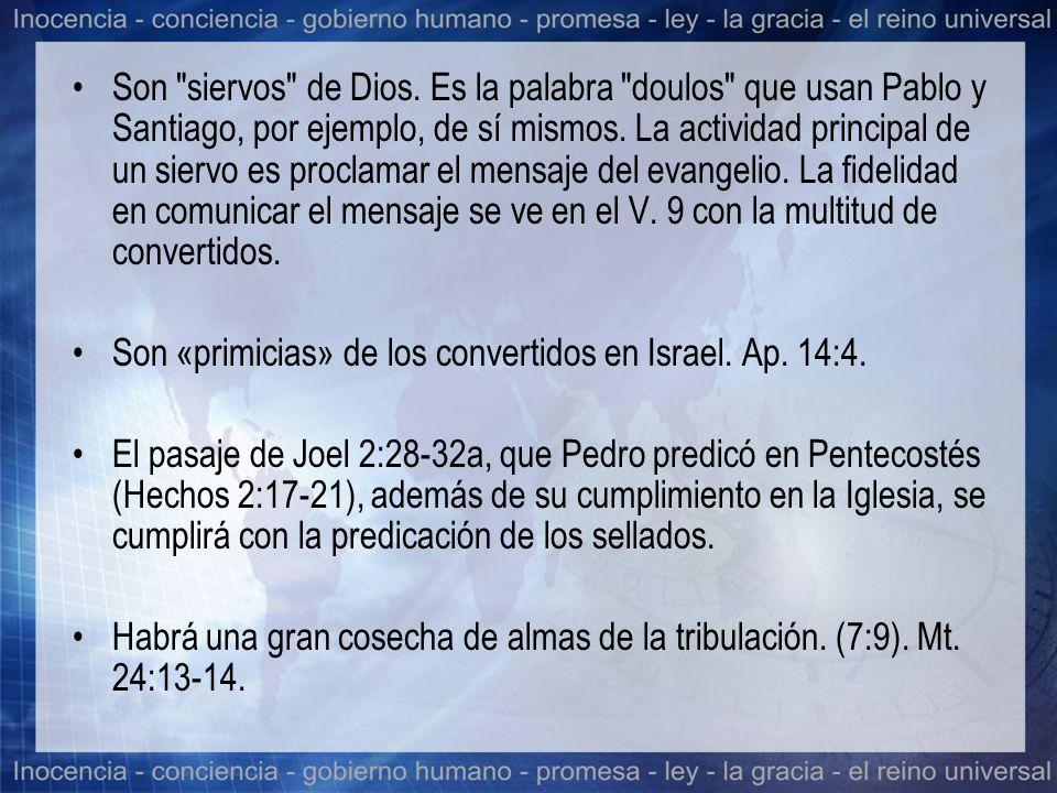 Son siervos de Dios.Es la palabra doulos que usan Pablo y Santiago, por ejemplo, de sí mismos.