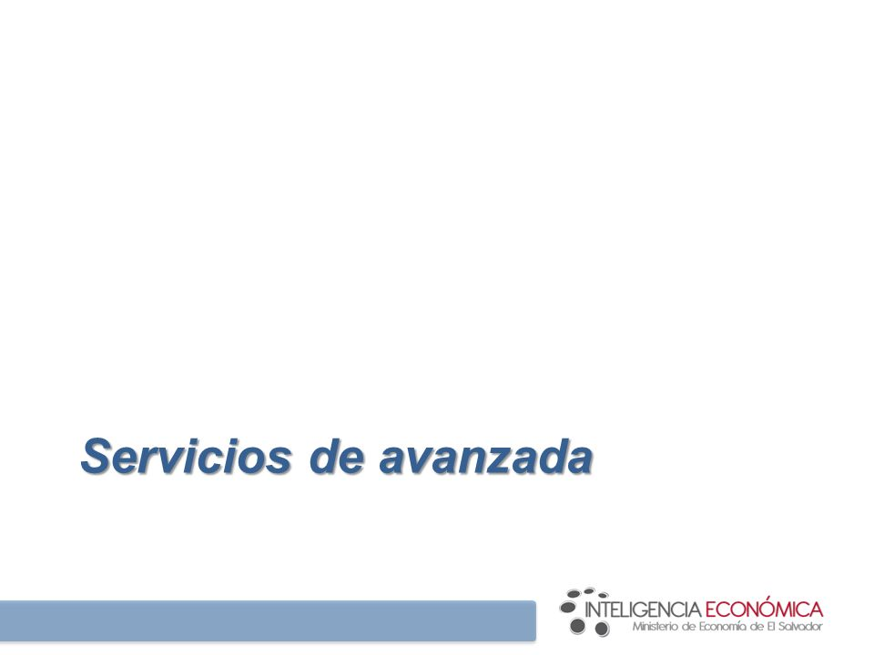 Servicios de avanzada